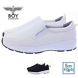 [보이런던] boylondon 남성 캐주얼 와플 컴포트 5cm 키높이 슬립온(화이트)628-엠씨 남자 신발 단화 로우