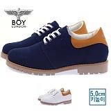 [보이런던] boylondon 남성 캐주얼 캔버스 마틴 5cm 키높이 슈즈(네이비)660-벨라 남자 신발 로우워커