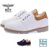 [보이런던] boylondon 남성 캐주얼 캔버스 마틴 5cm 키높이 슈즈(화이트)660-벨라 남자 신발 로우워커