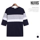 [뉴비스] NUVIIS - 어반 사단 배색 7부 티셔츠 (RT173TS)