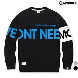 [앨빈클로]ALVINCLO MAR-665B ECC 프린트 맨투맨 티셔츠