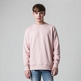 [티아즈] Teeaz - 3 Layer Zzury Over Fit Sweatshirt (pink) 오버핏 무지 맨투맨 크루넥 스��셔츠