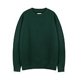 [티아즈] Teeaz - 3 Layer Zzury Over Fit Sweatshirt (Dark green) 오버핏 무지 맨투맨 크루넥 스��셔츠
