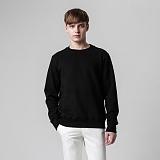 [티아즈] Teeaz - Double Layered Napping Sweatshirt (Black) 무지 맨투맨 크루넥 스��셔츠