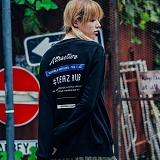 [티아즈] Teeaz - AUB Unisex Over Fit Sweatshirt (BlacK) 오버핏 맨투맨 크루넥 스��셔츠