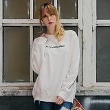 [티아즈] Teeaz - Studio Sweatshirt (Ivory) 맨투맨 크루넥 스��셔츠