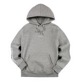 [티아즈] Teeaz - Attractive Hoodie (Grey) 후디 레터링 후드 티셔츠