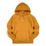 [티아즈] Teeaz - Attractive Hoodie (Mustard) 후디 레터링 후드 티셔츠