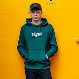 [티아즈] Teeaz - ZigZage Hoodie (Dark Green) 후디 후드 티셔츠