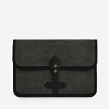 [모노노] MONONO - Vintage Clutch Bag (Hard Type) - Wax Canvas Charcoal 캔버스 클러치