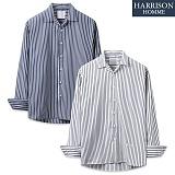 [해리슨] HARRSION 스트라이프 오픈 카라 셔츠 MT1425
