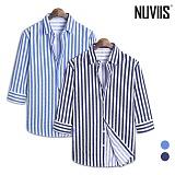 [뉴비스] NUVIIS - 토니 스트라이프 7부셔츠 (DP046SH)