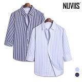 뉴비스 - 솔리드 스트라이프 7부셔츠 (DP043SH)