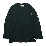 프랭크도미닉 - 버드 포켓 티셔츠(블루그린) 롱슬리브