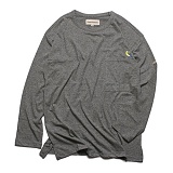 프랭크도미닉 - 버드 포켓 티셔츠(그레이) 롱슬리브