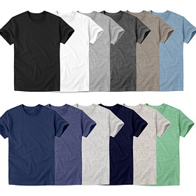 아우라 - M~4XL 반팔티셔츠(라운드) 빅사이즈 남여공용 12color 무지