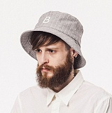 와일드브릭스 - STRIPE BUCKET HAT (grey) 버킷햇 스트라이프