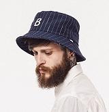 와일드브릭스 - STRIPE BUCKET HAT (navy) 버킷햇 스트라이프
