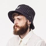 와일드브릭스 - STRIPE BUCKET HAT (black) 버킷햇 스트라이프