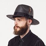 와일드브릭스 - PANAMA HAT (black) 파나마햇