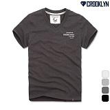 [크루클린] 레터링 브이넥 반팔 티셔츠 TVS120