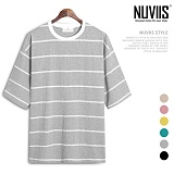 [뉴비스] NUVIIS - 20수 단가라 박스 반팔티셔츠 (LS029TS)