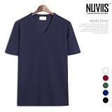 [뉴비스] NUVIIS - 엠보 베이직 브이넥 반팔티셔츠 (LS028TS)
