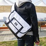 [에이비로드]ABROAD - Basic Messenger Bag (white) 베이직 메신저백 화이트