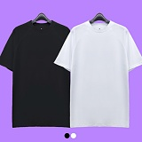 [superlative] 슈퍼레이티브 [1+1][S] 무지 나그랑 롱 반팔 티셔츠 - 반팔 티셔츠 - 2컬러