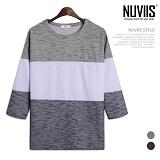 뉴비스 - 트윌 투톤 7부 티셔츠 (RT194TS)