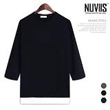 [뉴비스] NUVIIS - 슬라브 레이어드 나그랑 7부 티셔츠 (RT190TS)