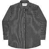 [언더에어] UNDERAIR Twisted Line Shirts - Black 긴팔남방 긴팔셔츠