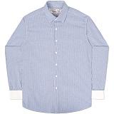 [언더에어] UNDERAIR Petrichor Shirts - Navy 긴팔남방 긴팔셔츠