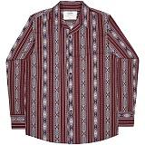 [언더에어] UNDERAIR Zahara Orchid Shirts - Burgundy 긴팔남방 긴팔셔츠