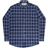 [언더에어] UNDERAIR Velvet Rain Shirts - Blue 긴팔남방 긴팔셔츠