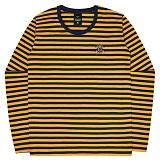[언더에어] UNDERAIR Mini Trap Stripe T-shirt - Mustard 긴팔티 스트라이프티