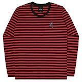 [언더에어] UNDERAIR Mini Trap Stripe T-shirt - Red 긴팔티 스트라이프티