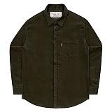 [언더에어] UNDERAIR 8w Corduroy Shirts - Khaki 긴팔남방 긴팔셔츠