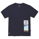 [그루브라임]Grooverhyme -2017 BOX LETTERING T-SHIRT (NAVY) [GT011F23NA] 티셔츠 반팔티