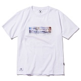 [그루브라임]Grooverhyme - 2017 SANTA MONICA PRINT T-SHIRT (WHITE) [GT013F23WH] 티셔츠 반팔티 반팔티 티셔츠