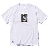 [그루브라임]Grooverhyme -2017 BLACK DOG FACE T-SHIRT  (WHITE) [GT044F23WH] 티셔츠 반팔티