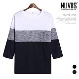 [뉴비스] NUVIIS - 트윌 삼단 7부 티셔츠 (RT196TS)