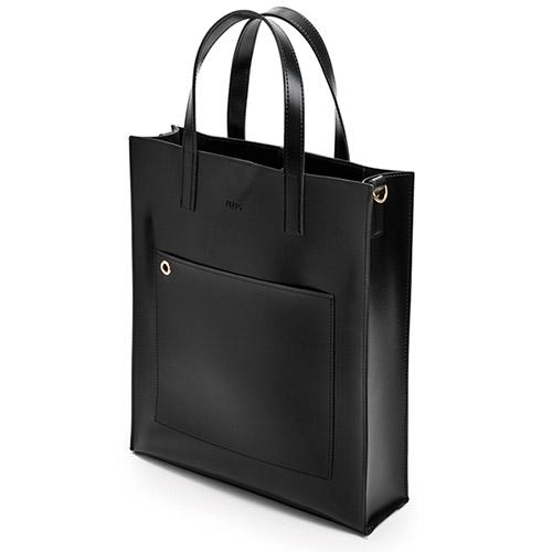[핍스] PEEPS striking tote bag(black)