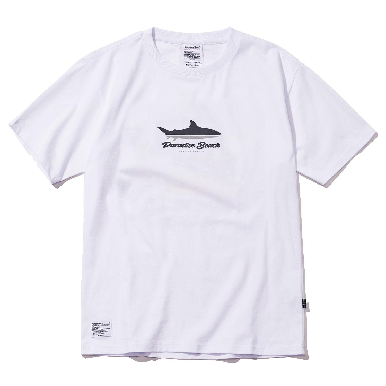 [파라다이스비치]PARADISE BEACH 2017 PARADISE SHARK T-SHIRT (WHITE) [PT012F23WH] 반팔티