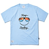[파라다이스비치]PARADISE BEACH 2017 KEEP SMILE T-SHIRT (SKY BLUE) [PT021F23SB] 반팔티