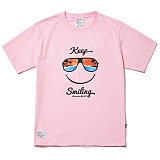 [파라다이스비치]PARADISE BEACH 2017 KEEP SMILE T-SHIRT (PINK) [PT021F23PI] 반팔티