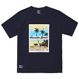 [파라다이스비치]PARADISE BEACH 2017 OCEAN SIDE T-SHIRT (NAVY) [PT024F23NA] 반팔티