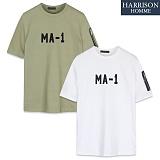 [해리슨] HARRSION MA-1 자수 항공 반팔 티셔츠 CS1193
