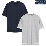 [해리슨] HARRSION 소프트 롤업 디테일R 반팔티 CS1197