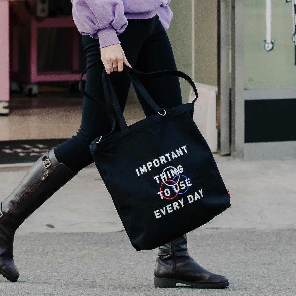 [로아드로아]ROIDESROIS - GEE ECO BAG (BLACK) 가방 에코백 토트백 크로스백